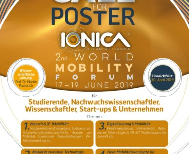 Call for Poster! IONICA 2nd World Mobility Forum